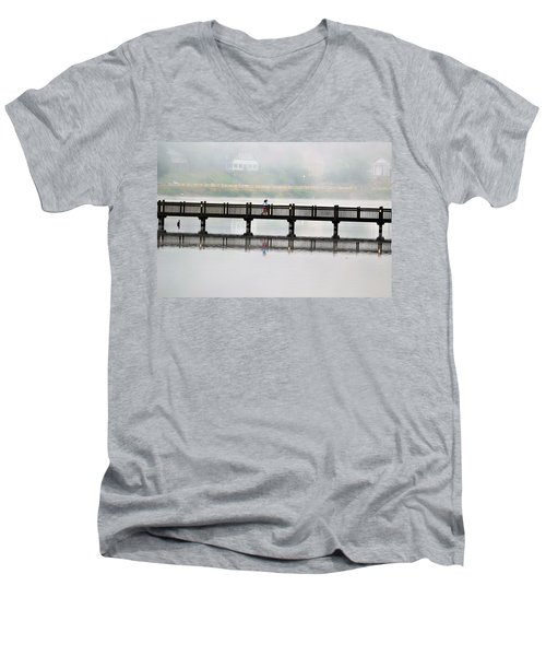 Walking Bridge Men's V-Neck T-Shirt