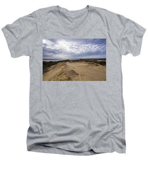 Walking Dunes Montauk Men's V-Neck T-Shirt