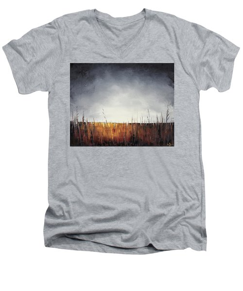 Walking, I Am Listening To A Deeper Way Men's V-Neck T-Shirt by Carolyn Doe