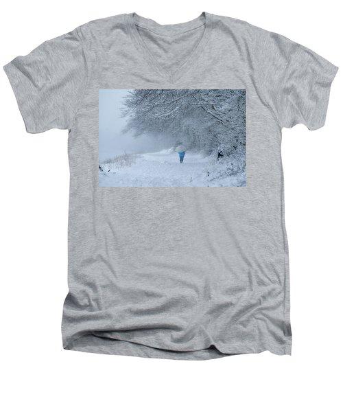 Walking In The Snow Men's V-Neck T-Shirt