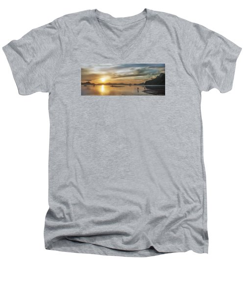 Walking In The Sun Men's V-Neck T-Shirt