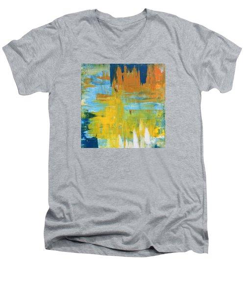 Walking On Sunshine - 48x48 Huge Original Painting Art Abstract Artist Men's V-Neck T-Shirt