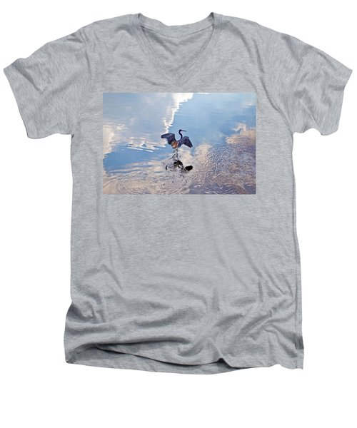 Walking On Water Men's V-Neck T-Shirt