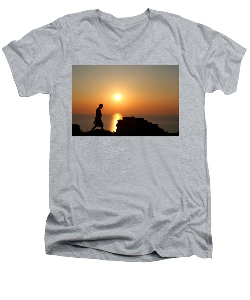 Walking Paradise Men's V-Neck T-Shirt