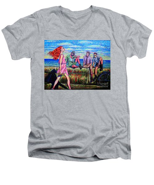 Walking Proud Men's V-Neck T-Shirt