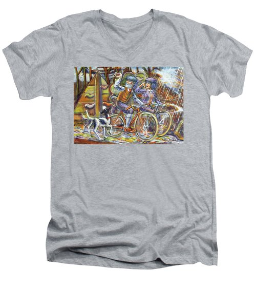 Walking The Dog 3 Men's V-Neck T-Shirt
