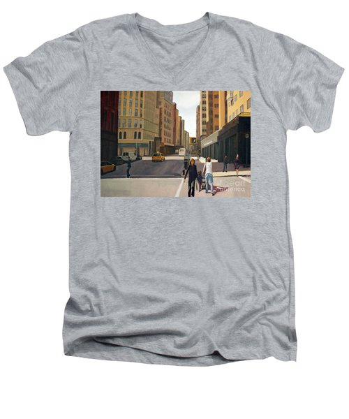 Walking The Lines Men's V-Neck T-Shirt