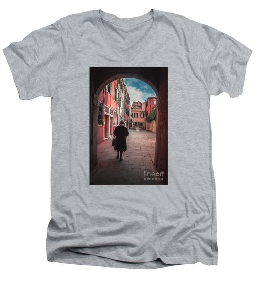 Walking Through Time - Venice, Italy Men's V-Neck T-Shirt