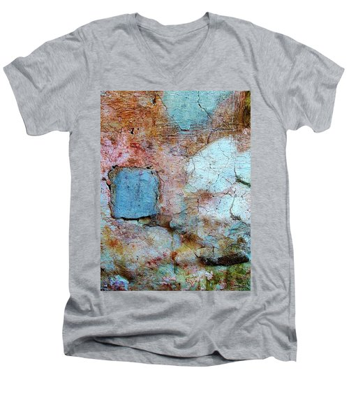 Wall Abstract 138 Men's V-Neck T-Shirt by Maria Huntley