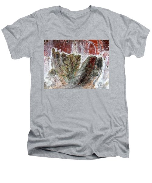Wall Abstract 144 Men's V-Neck T-Shirt by Maria Huntley