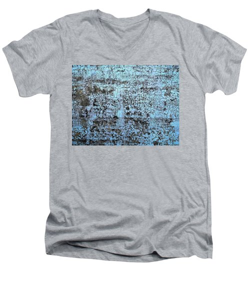 Wall Abstract 163 Men's V-Neck T-Shirt by Maria Huntley