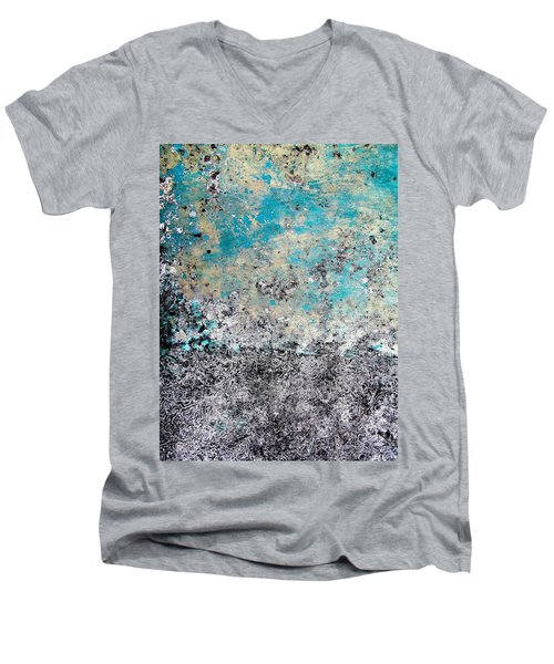 Wall Abstract 174 Men's V-Neck T-Shirt by Maria Huntley
