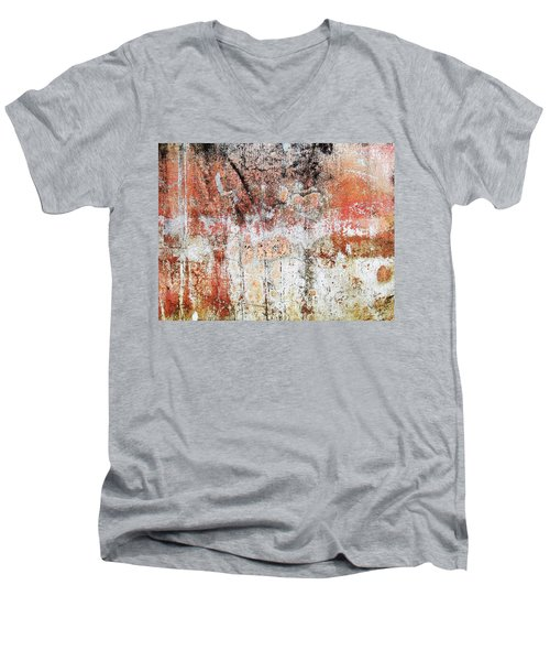 Wall Abstract  183 Men's V-Neck T-Shirt by Maria Huntley