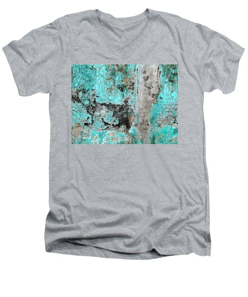 Wall Abstract 219 Men's V-Neck T-Shirt by Maria Huntley