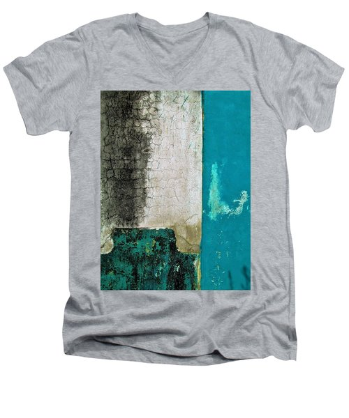 Wall Abstract 296 Men's V-Neck T-Shirt by Maria Huntley