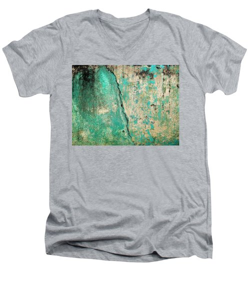 Wall Abstract 97 Men's V-Neck T-Shirt by Maria Huntley