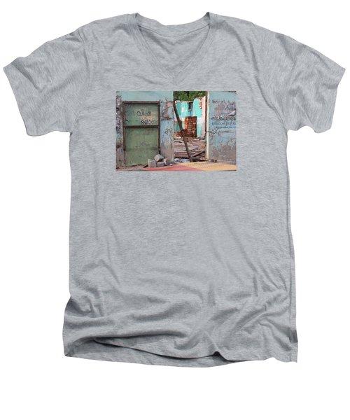 Wall, Door, Open Space In Kochi Men's V-Neck T-Shirt