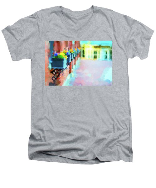 Wall Flower On The Mills In Amesbury Ma Men's V-Neck T-Shirt