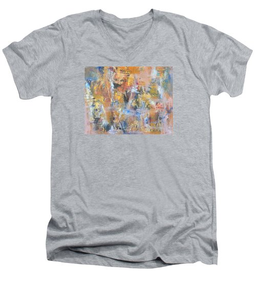 Wall Memories Men's V-Neck T-Shirt