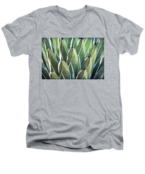 Men's V-Neck T-Shirt featuring the photograph Wall Of Agave  by Saija Lehtonen
