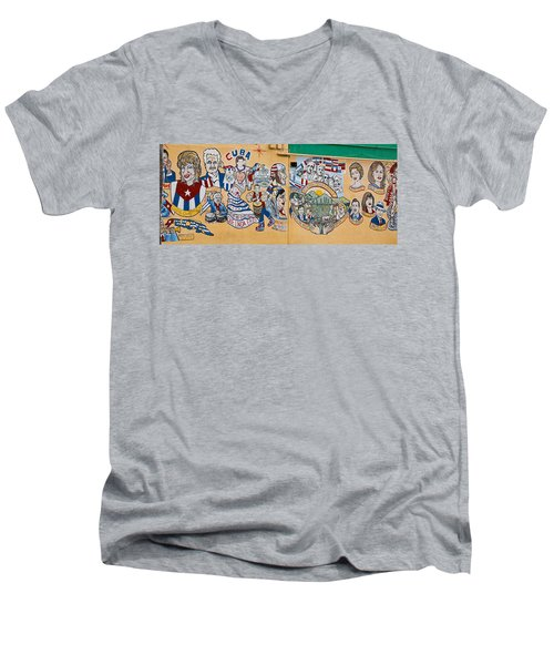 Wall Of Cuba Men's V-Neck T-Shirt