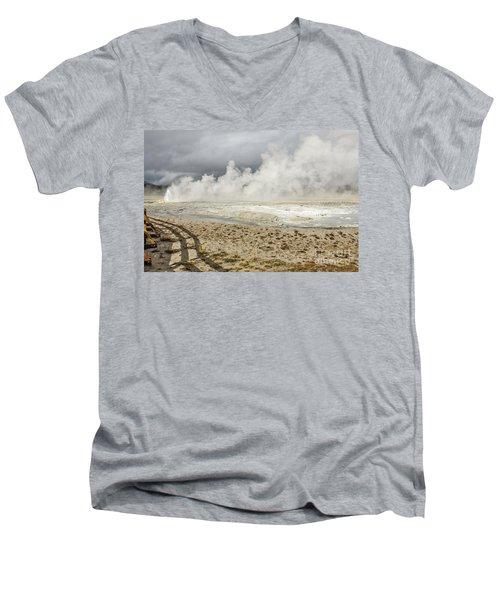 Wall Of Steam Men's V-Neck T-Shirt