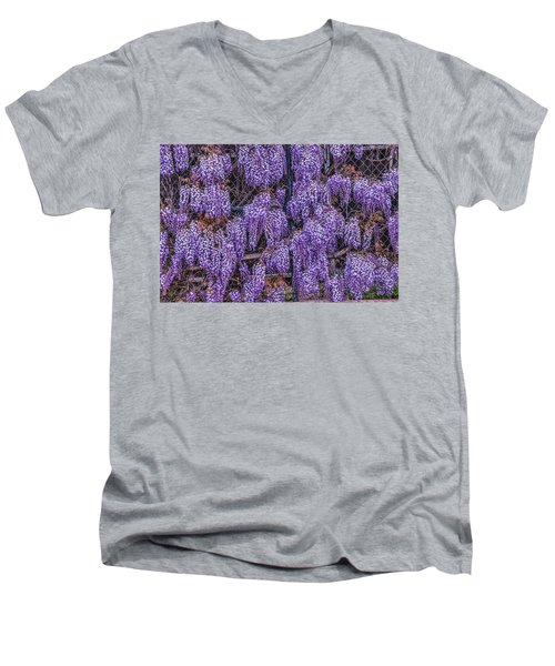 Wall Of Wisteria Men's V-Neck T-Shirt