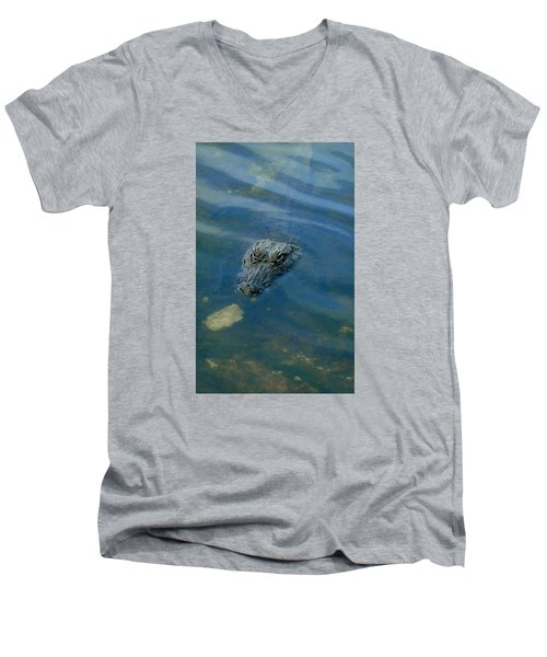 Wally The Gator Men's V-Neck T-Shirt