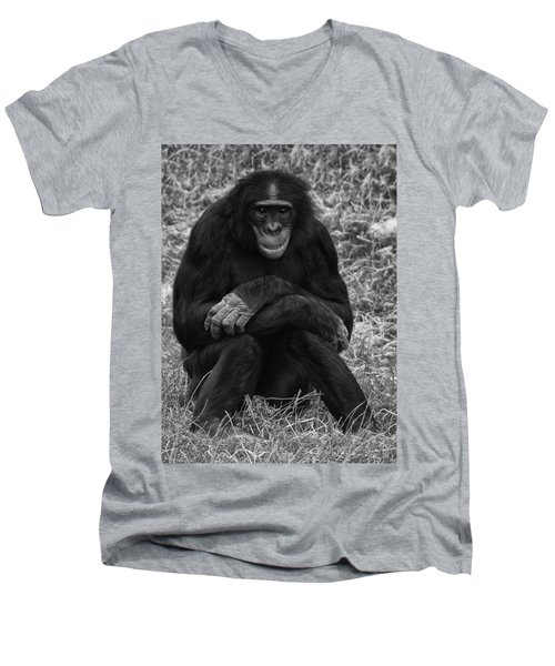 Men's V-Neck T-Shirt featuring the photograph Wanna Be Like You by Nick Bywater