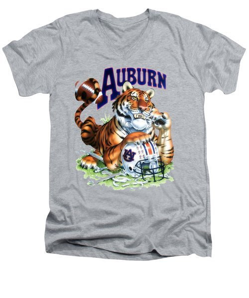 War Eagle  Men's V-Neck T-Shirt by Herb Strobino