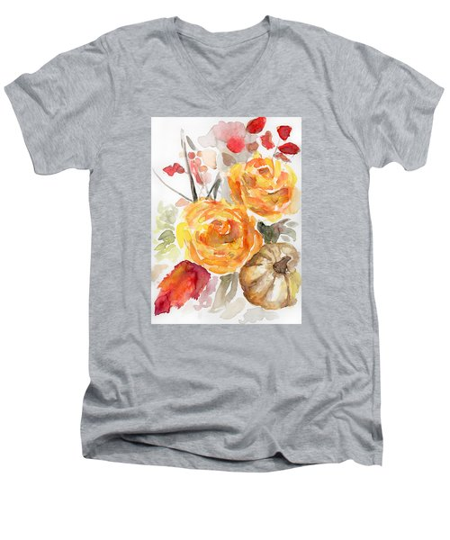 Warm Autumn Men's V-Neck T-Shirt by Arleana Holtzmann