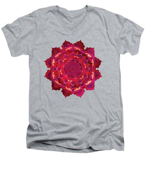 Warm Autumn Mandala Men's V-Neck T-Shirt