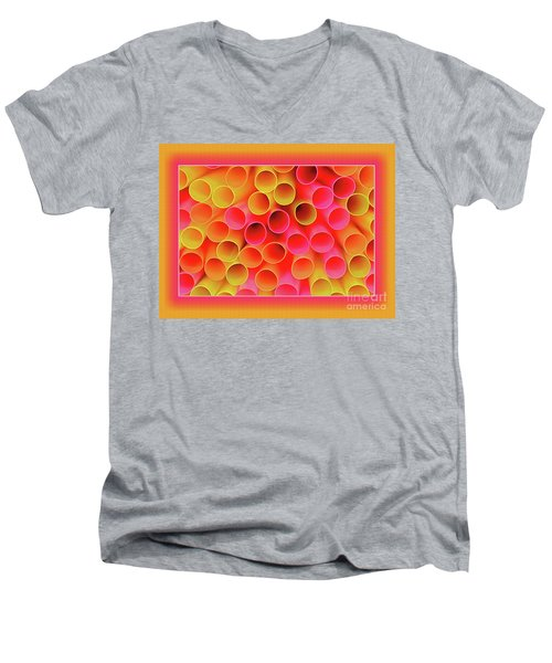 Men's V-Neck T-Shirt featuring the photograph Warm In Neon By Kaye Menner by Kaye Menner
