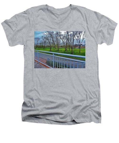 Warm Rainforest  Men's V-Neck T-Shirt