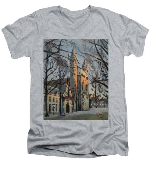 Warm Winterlight Olv Plein Men's V-Neck T-Shirt