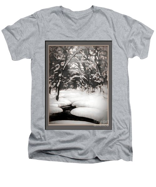 Warmth Of A Winter Day Men's V-Neck T-Shirt