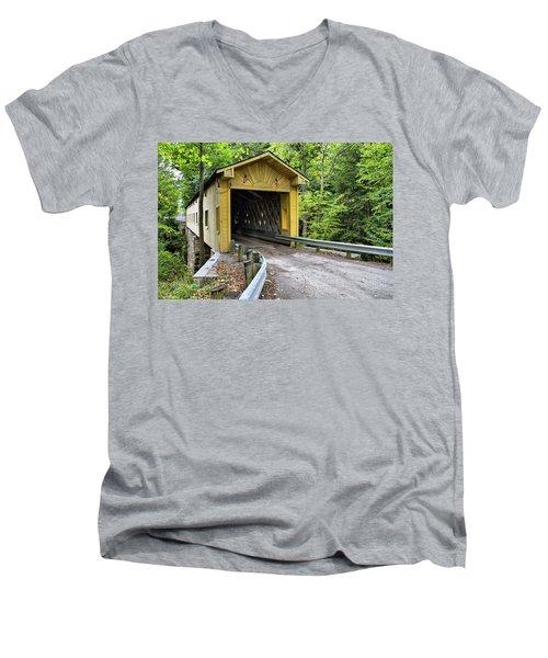 Warner Hollow Covered Bridge Men's V-Neck T-Shirt
