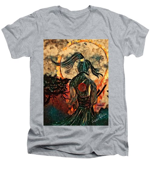 Warrior Moon Men's V-Neck T-Shirt
