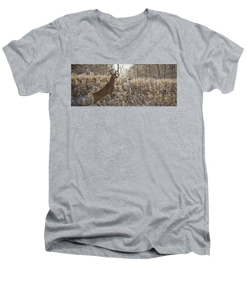 Wary Buck Men's V-Neck T-Shirt