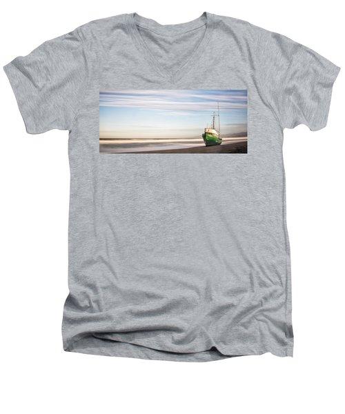 Washed Ashore Men's V-Neck T-Shirt by Jon Glaser