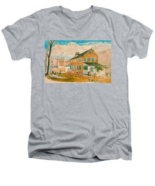 Washington D.c. Square 1874 Men's V-Neck T-Shirt