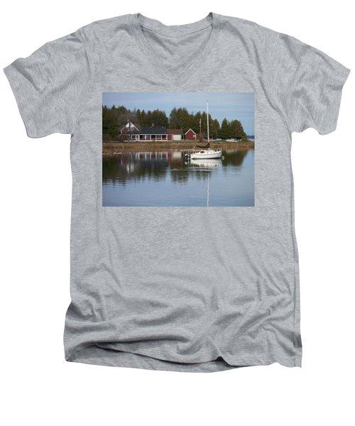 Washington Island Harbor 4 Men's V-Neck T-Shirt