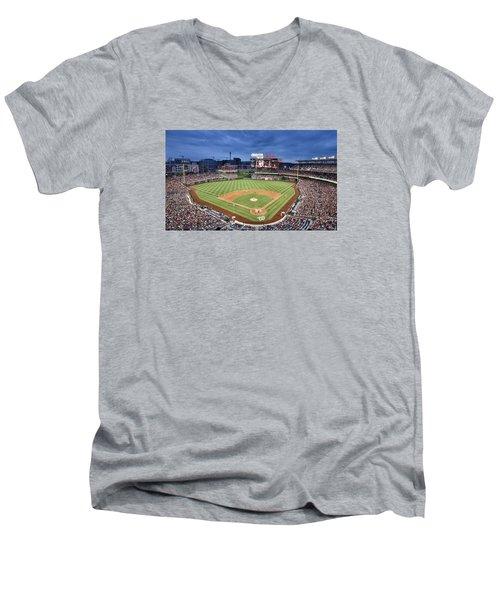 Washington Nationals Park - Dc Men's V-Neck T-Shirt by Brendan Reals
