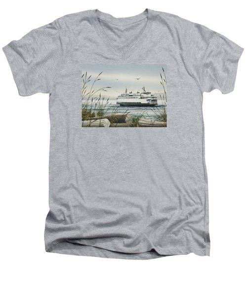 Washington State Ferry Men's V-Neck T-Shirt