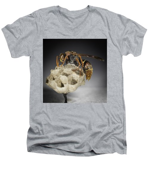 Wasp On A Nest Men's V-Neck T-Shirt