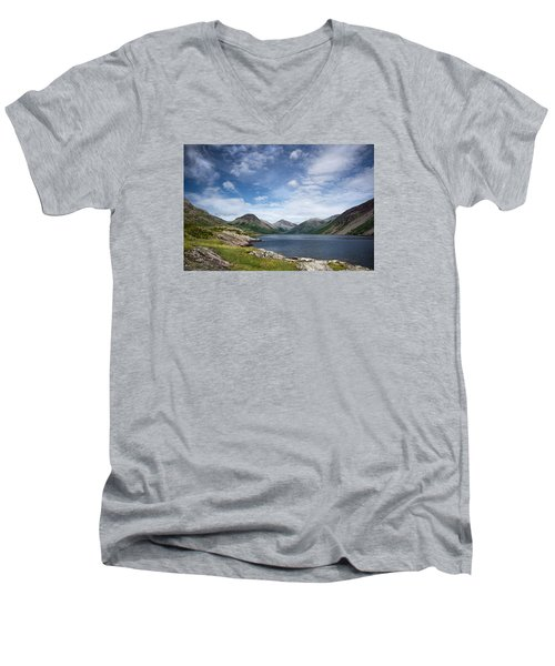 Wastwater Morning Men's V-Neck T-Shirt by Jacqi Elmslie