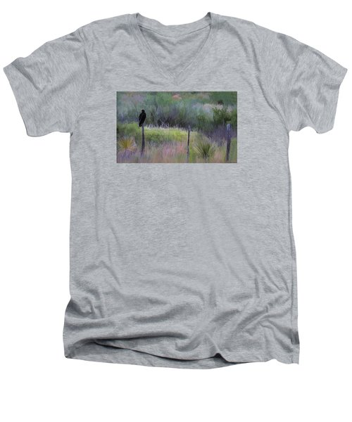 Watchful Eye Men's V-Neck T-Shirt by John Rivera