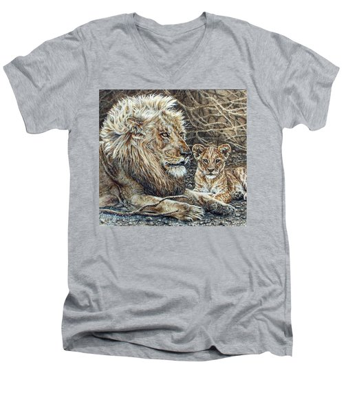 Watching And Waiting Men's V-Neck T-Shirt