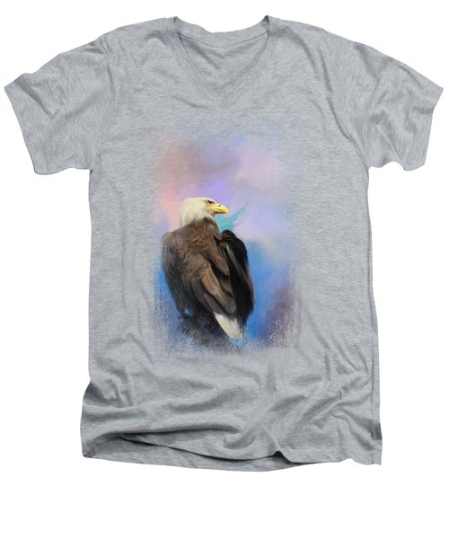 Watching Over The Heavens Men's V-Neck T-Shirt by Jai Johnson