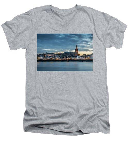 Watching The City Lights, Nijmegen Men's V-Neck T-Shirt